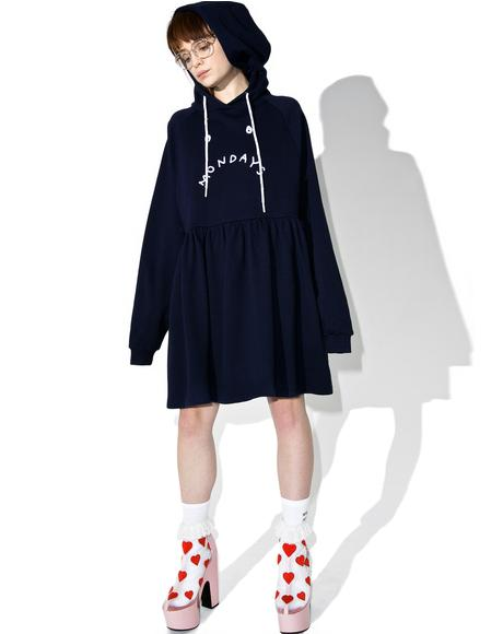 Mondays Hoodie Dress