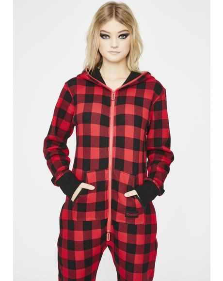Buffalo Plaid Jumpsuit