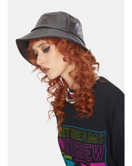 Brownie No Complaints Vegan Leather Bucket Hat