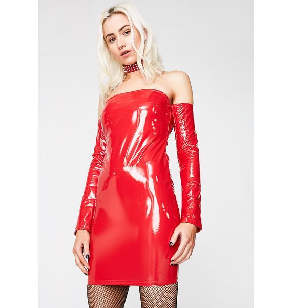 Spicy Haute Thang Vinyl Dress