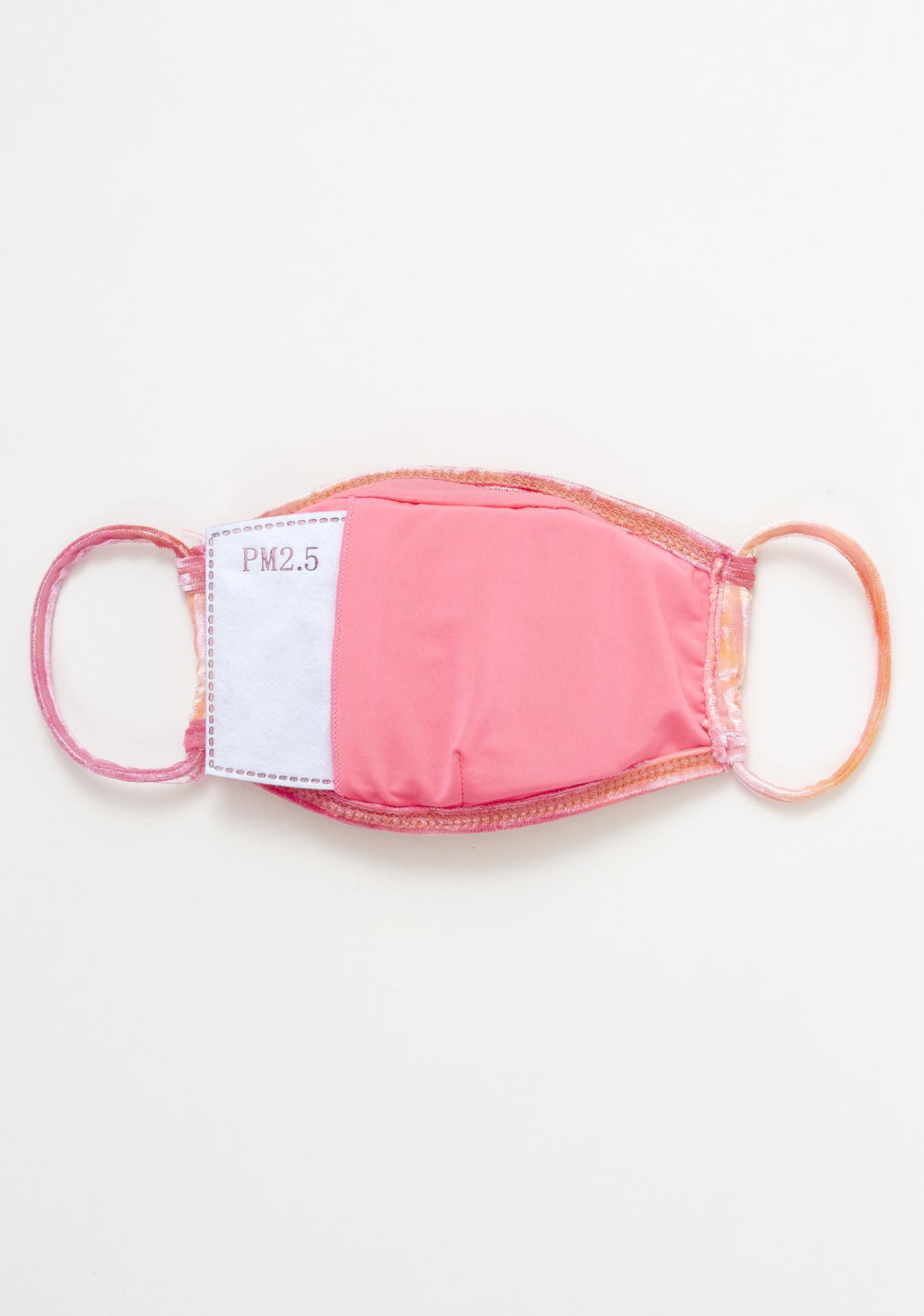 Dippin' Daisy's Burn Tie Dye Velvet Face Mask