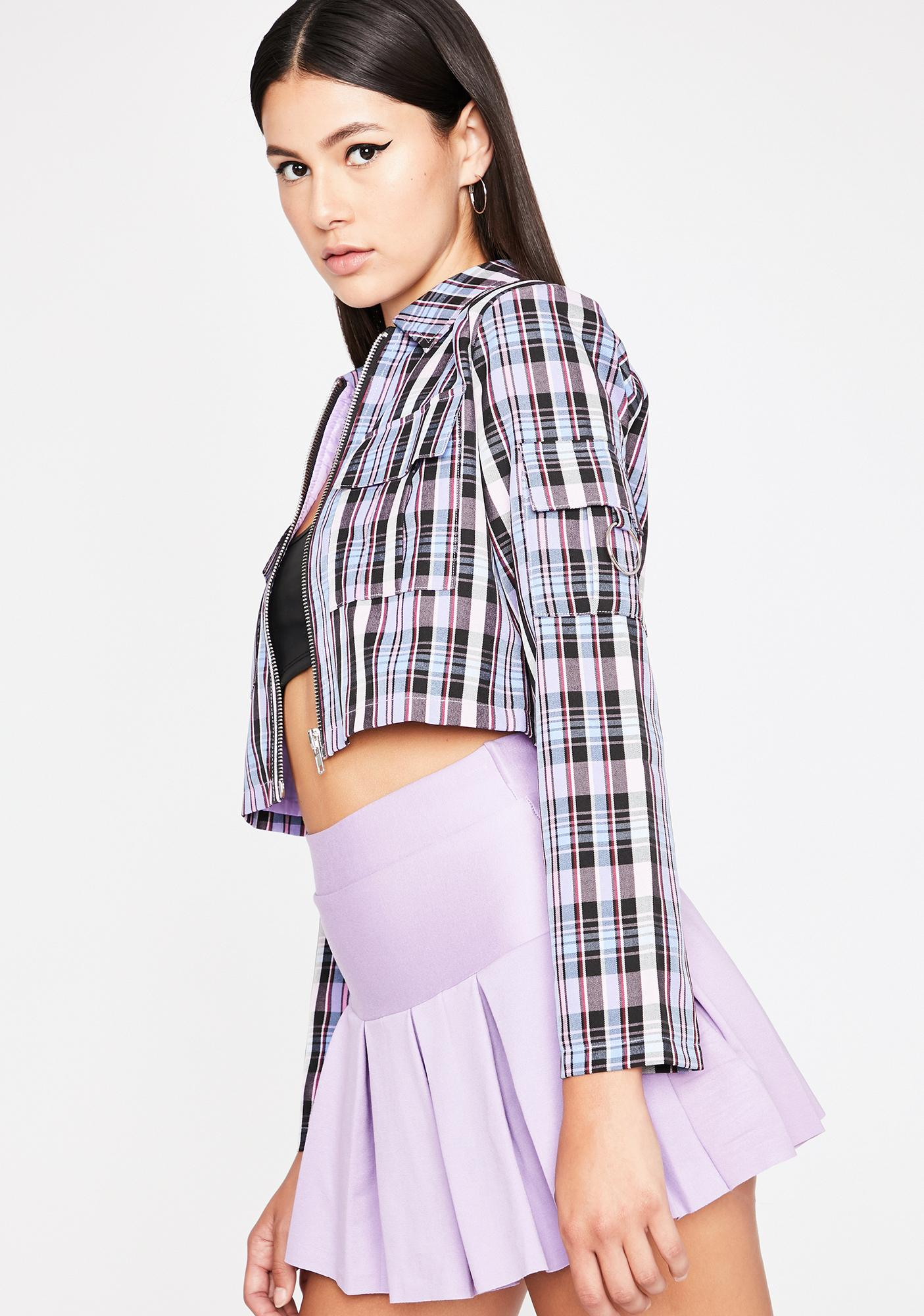 Lavender Word Of Mouth Plaid Jacket