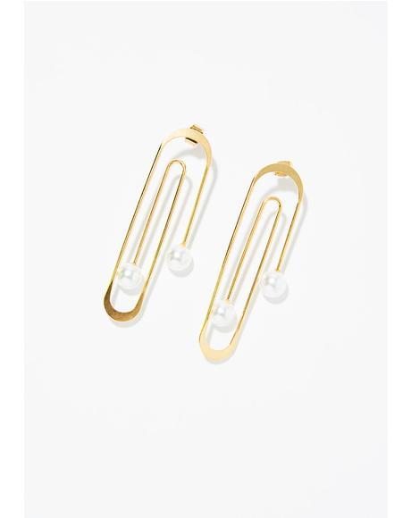 Fancy Paper Clip Earrings