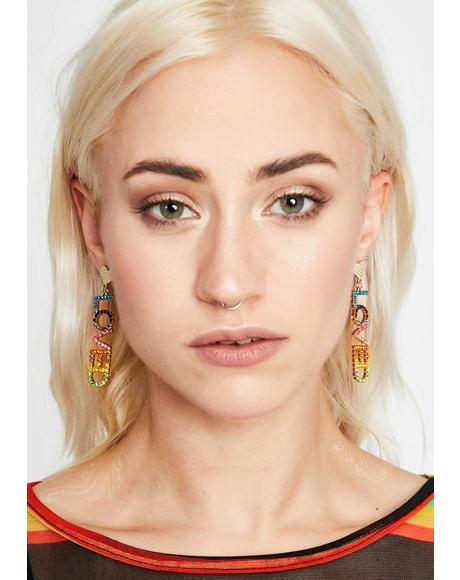 You Are Loved Drop Earrings