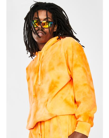 Orange Juicy Tie Dye Hoodie