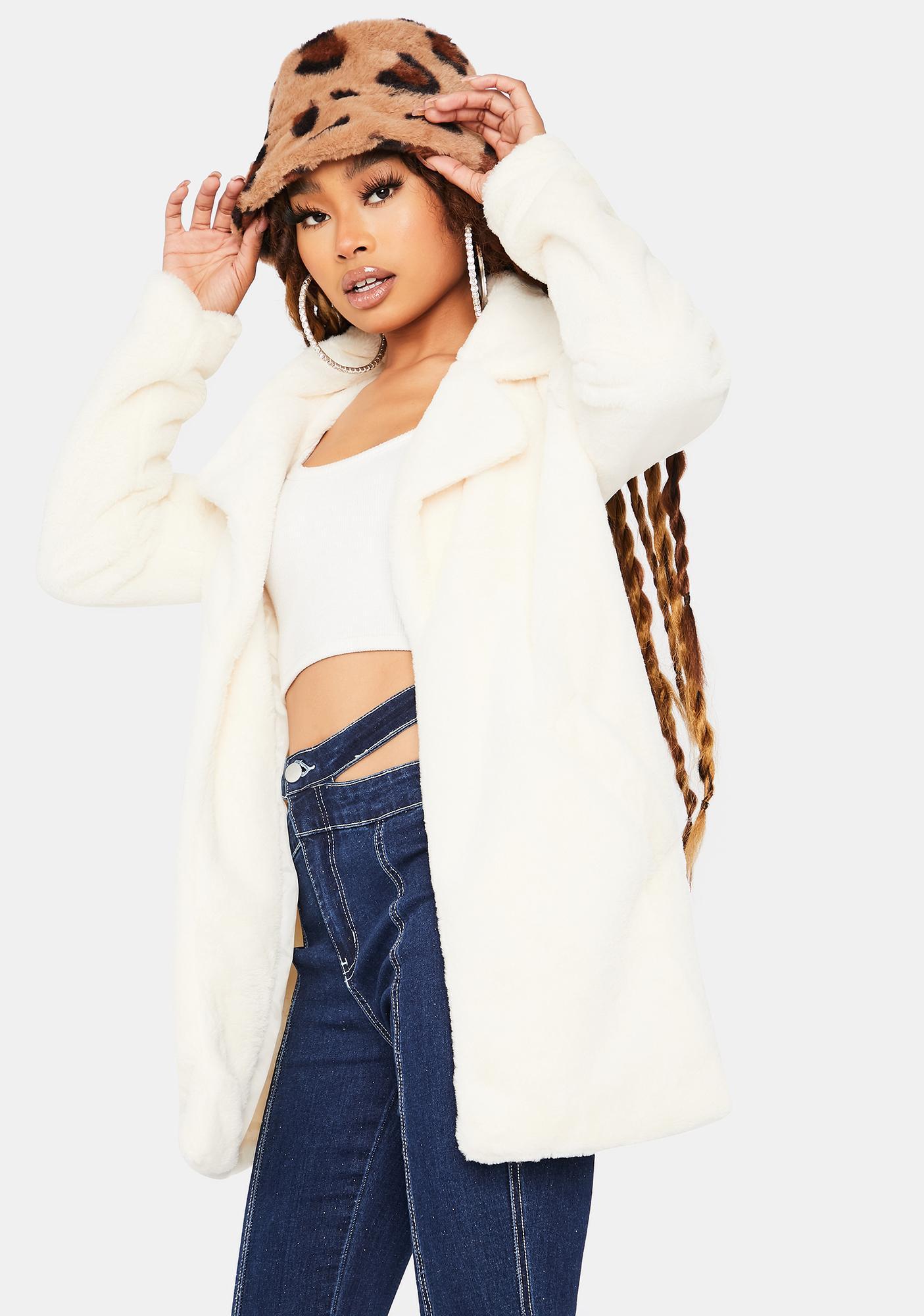 Seen Canoodling Faux Fur Jacket