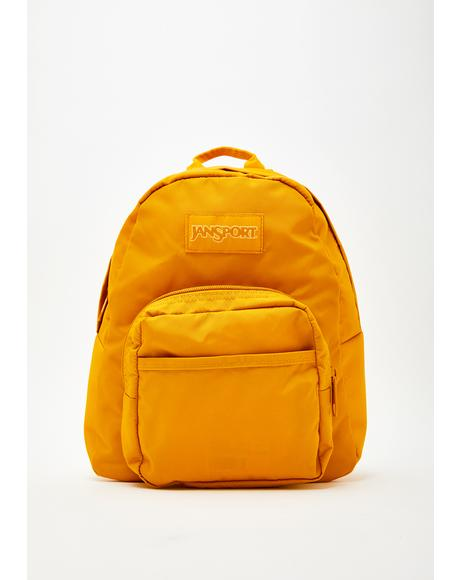 Mustard Mono Half Pint Mini Backpack