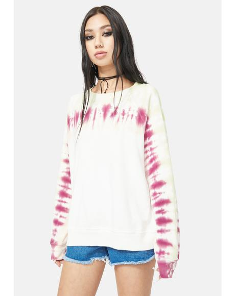 Aloe Edge Tie Dye Sommers Sweatshirt