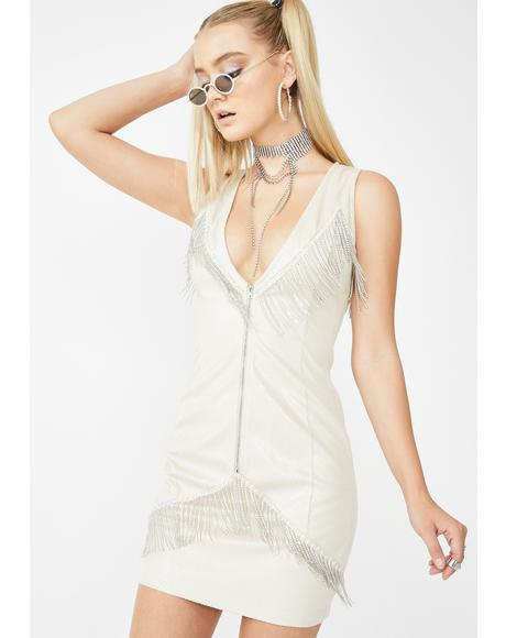 Cassie Rhinestone Fringe Mini Dress