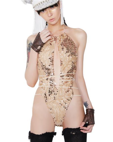 Goldfinger Sequin Bodysuit
