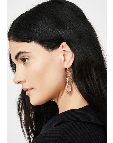 Savage Loyalty Snake Earrings