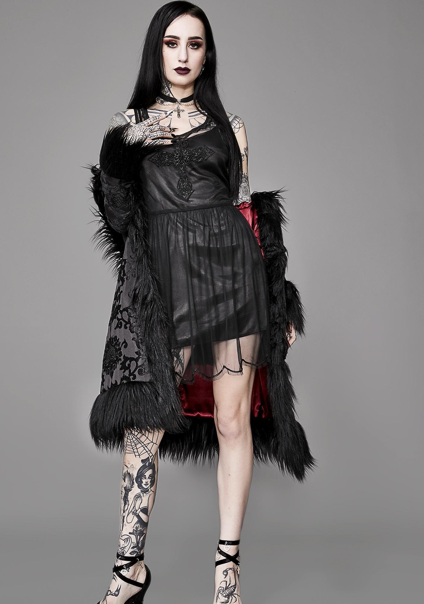 Widow Divine Being Beaded Dress