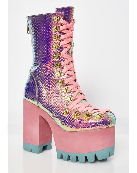 Poisonous Vixen Snake Platform Boots