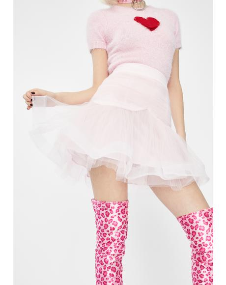 Pink Pussy Peach Mini Skirt