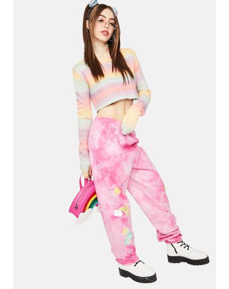 Happy Thoughts Tie Dye Sweatpants