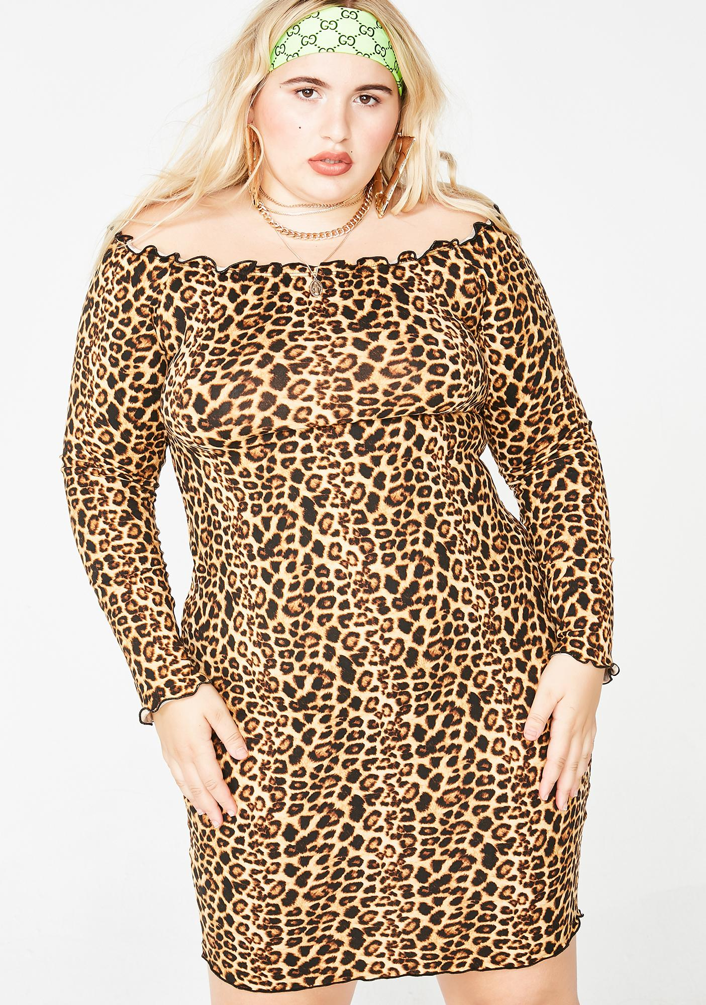 Kitty Clash Leopard Dress