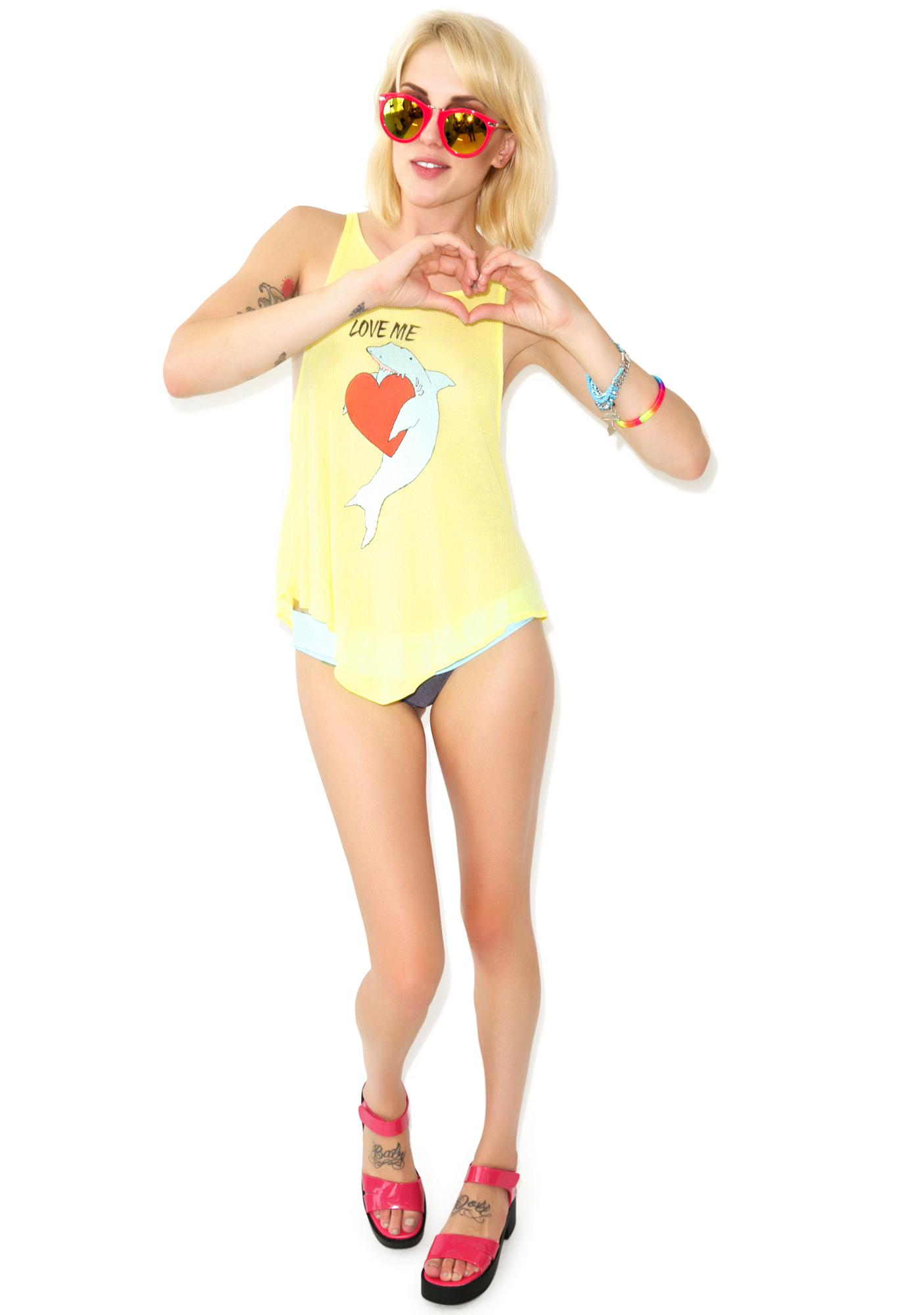 Wildfox Couture Shark Love Cassidy Tank