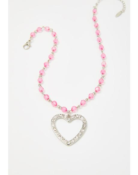 Love Token Beaded Choker