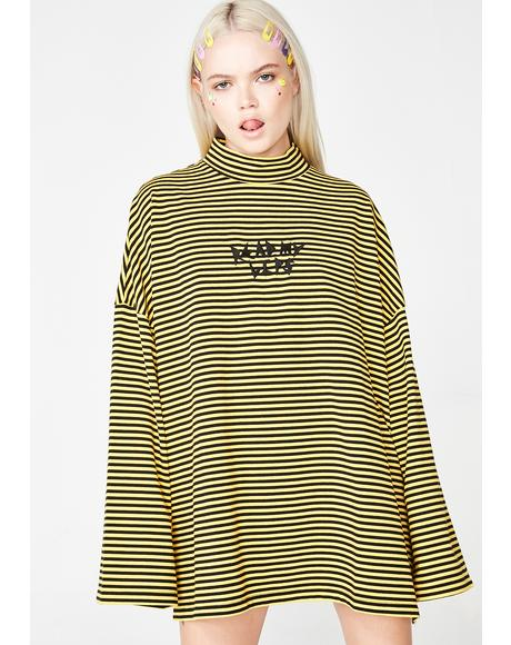 Read My Lips Stripey Tee