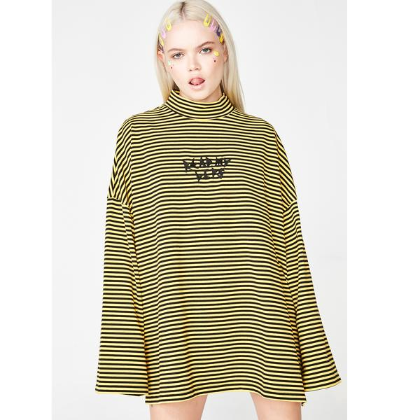 Lazy Oaf Read My Lips Stripey Tee