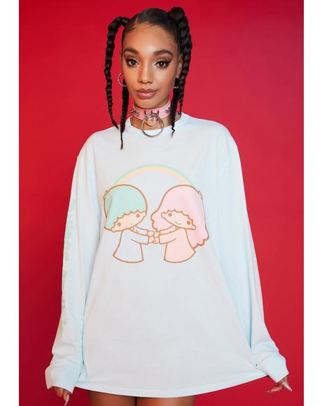 Lost In The Clouds Long Sleeve Graphic Tee