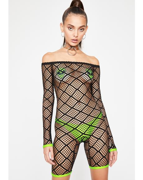 Midnight Scene Heaux Fishnet Romper