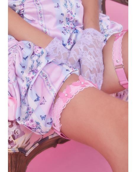 Pretty Wing Messages Leg Garters