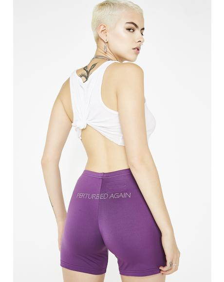 Perturbed Grape Biker Shorts