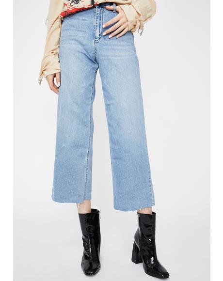 Light Wash Nori Wide Leg Denim Jeans