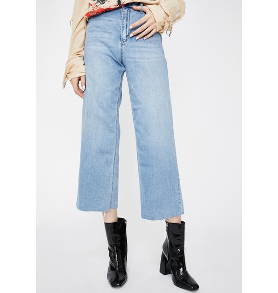 Hidden Denim Light Wash Nori Wide Leg Denim Jeans