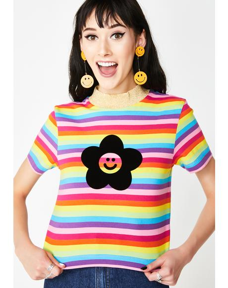 Flower Power Rainbow Tee
