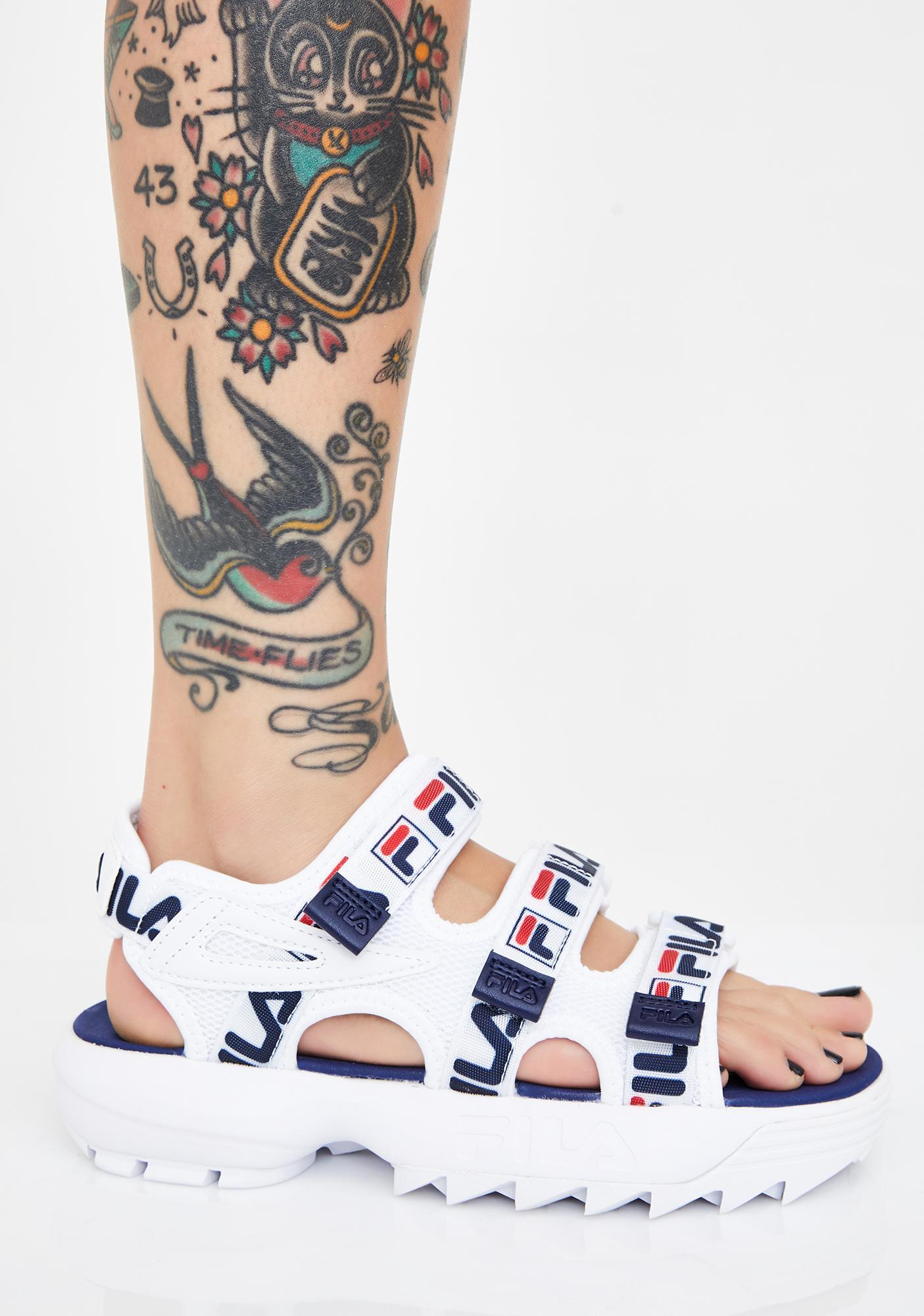 Fila Disruptor Platform Sandals