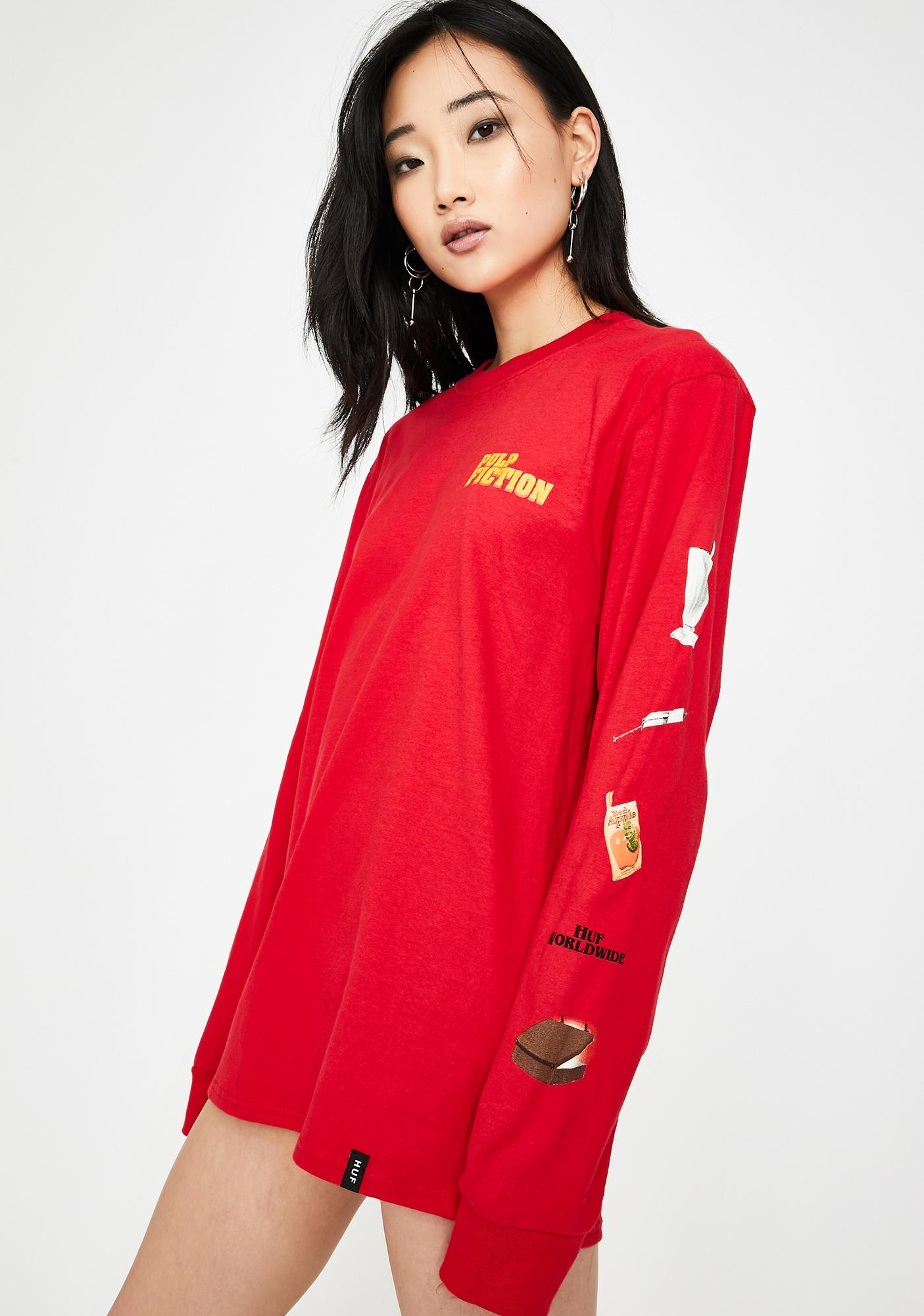 HUF x Pulp Fiction Props Long Sleeve Tee
