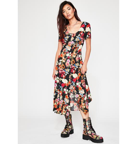 Current Mood Wildflower About You Midi Dress
