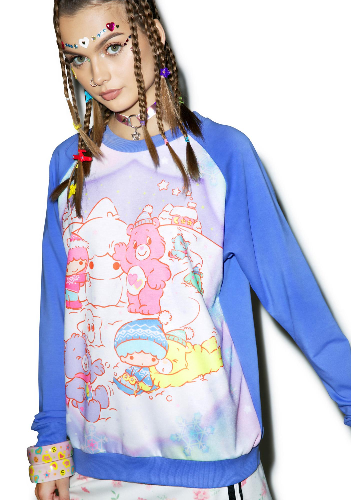 Japan L.A. Little Stars X Care Bears Winter Sweatshirt
