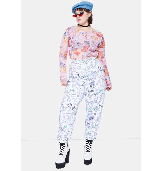 NEW GIRL ORDER Curve Scribble Joggers