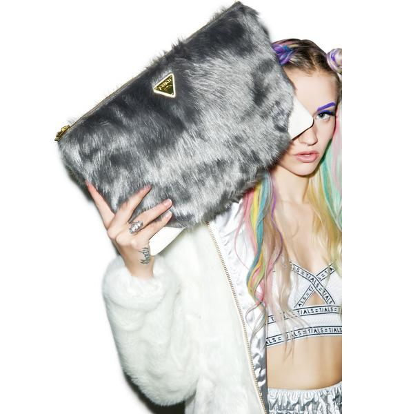 Joyrich Candy Fur Clutch Bag
