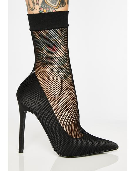 Luna Poisonous Fishnet Heels