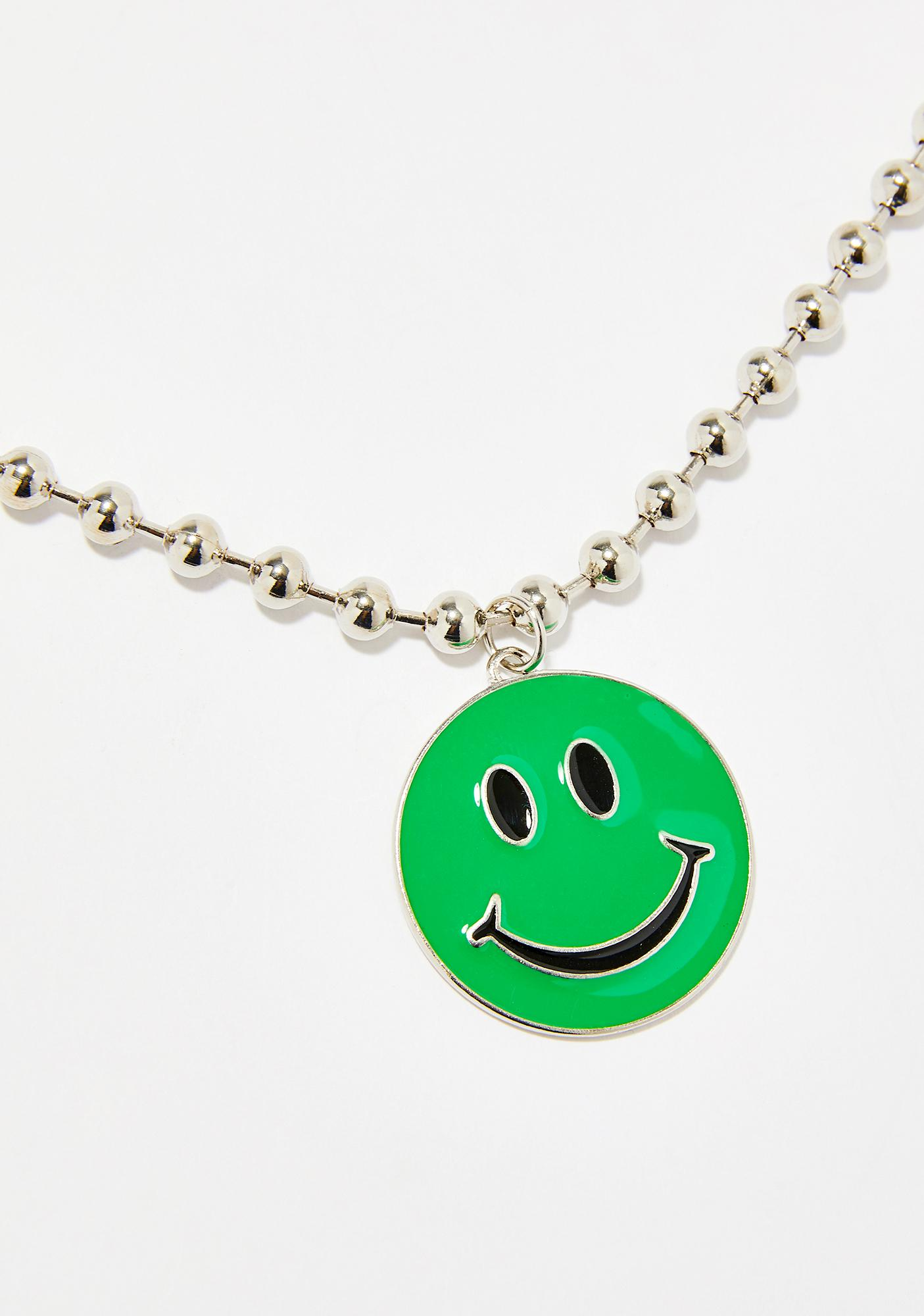 Bright Side Smiley Necklace
