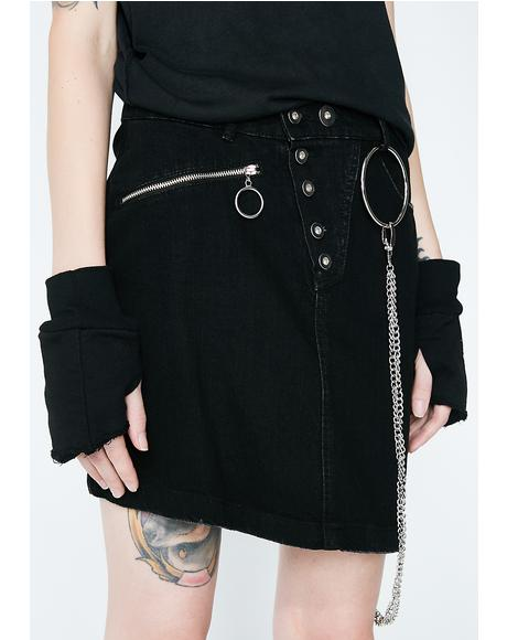 Morte Denim Skirt