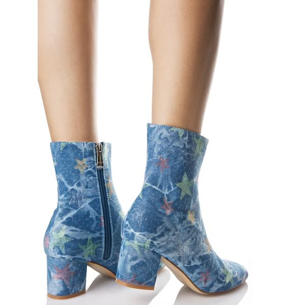 Denim Close Encounter Boots