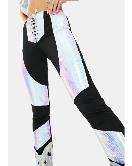 Stardust Serpent Lace Up Leggings