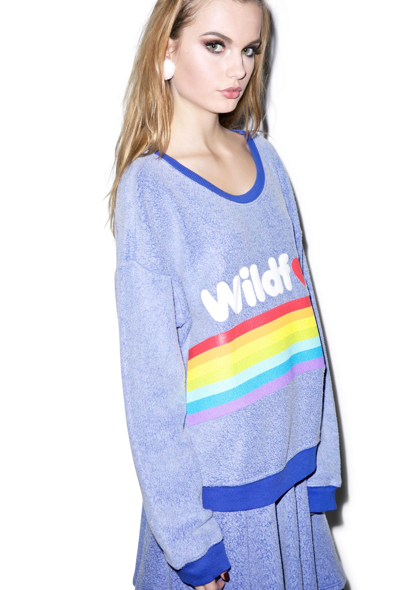 Wildfox Couture Dreams Come True Oversized Sweatshirt
