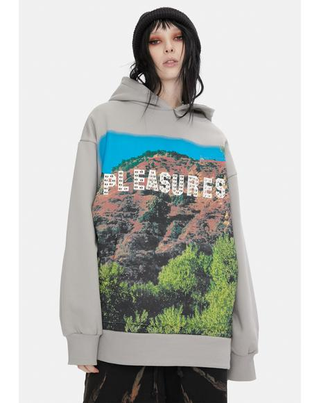 Pleasurewood Studded Graphic Hoodie