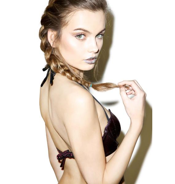 Margarita Mermaid Gemma Metallic Seashell Bikini Top