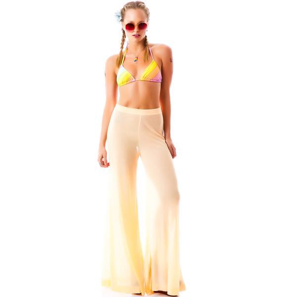 Wildfox Couture Vintage Rainbow Triangle Bikini Top