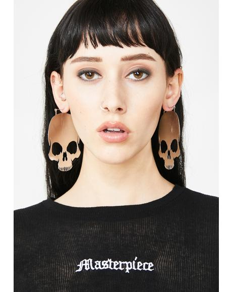 Skull Hoop Earrings