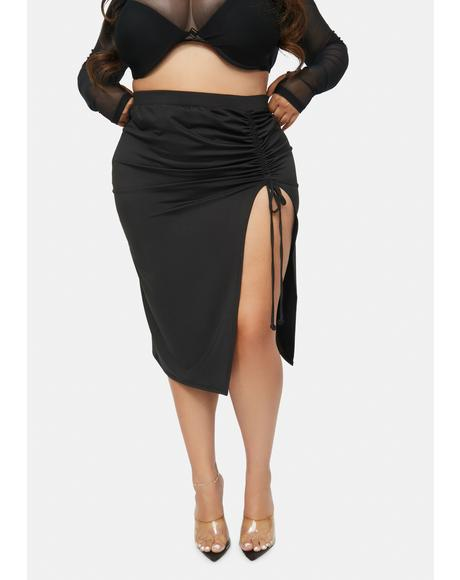 I'm Thinkin' Bout You Ruched Skirt