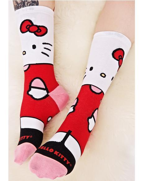 Hello Kitty Crew Sock