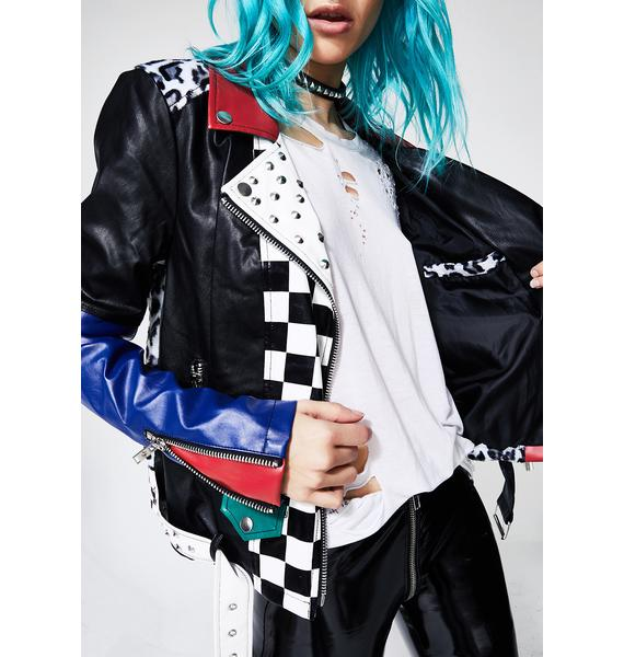 Current Mood Oppositez Attract Moto Jacket